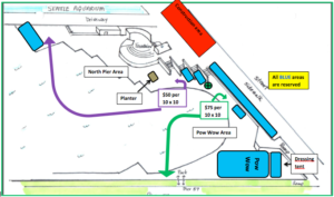 Map of vendor tent placement at 2016 Salmon Homecoming event
