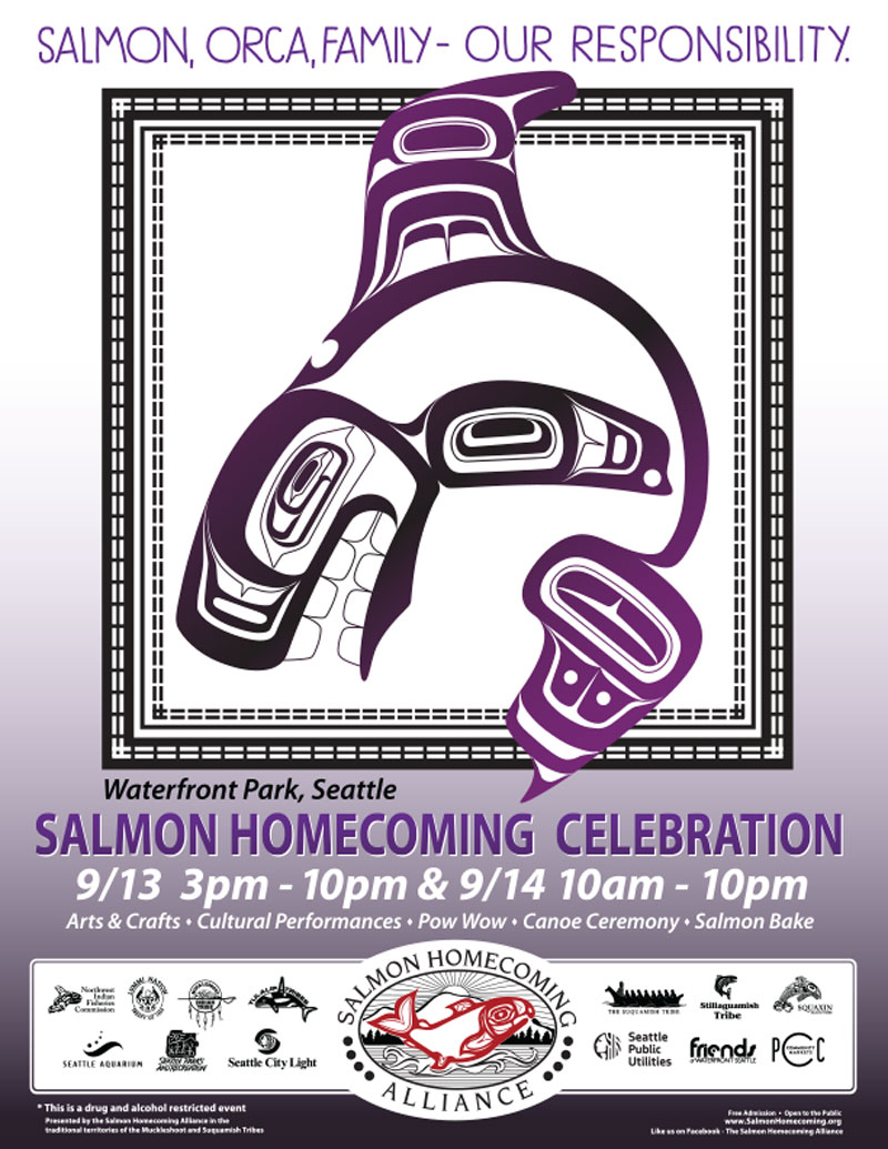 2019 Salmon Homecoming Poster