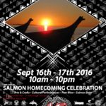 Salmon Homecoming 2016 event poster