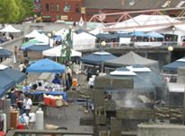 photo of vendor booths with canopies